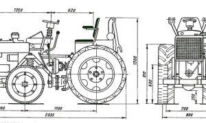 Минитрактор из мотоблока Салют. Инструкция, схемы, чертежи
