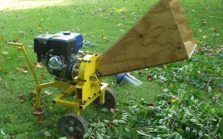 Разновидности садовых дробилок на мотоблок для измельчения веток