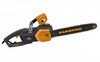 Цепная электропила Carver RSE-2400 М. Технические характеристики и правила эксплуатации
