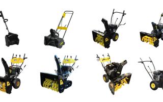 Снегоуборщики Huter. Обзор, характеристики, типы двигателей, эксплуатация