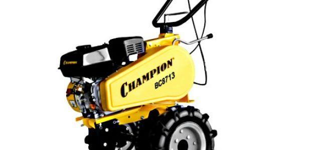 Мотоблок Champion 8713, его характеристики. Видео и отзывы от пользователей