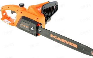 Электрическая цепная пила Carver RSE 2200. Технические характеристики и правила эксплуатации