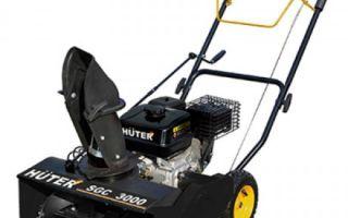 Обзор снегоуборщика Huter SGC 3000. Описание, инструкции, отзывы владельцев