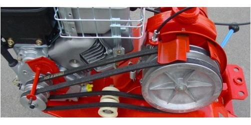 Шкив отбора мощности – боковой, под клиноременную передачу мотоблока Салют 100