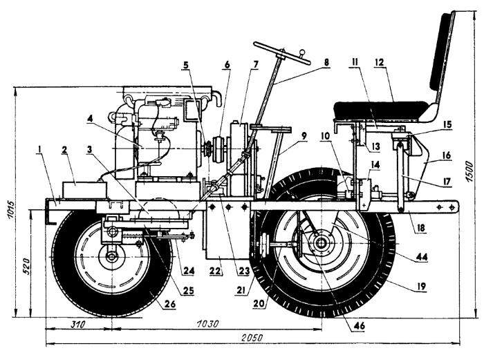 Миитрактор из мотоблока МТЗ