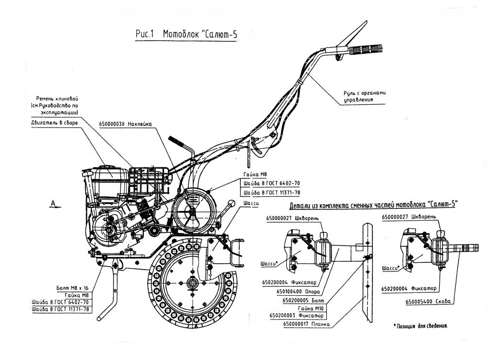 Схема сборки двигателя мотоблока