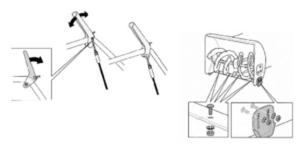 Регулировка положения башмаков снегоуборщика