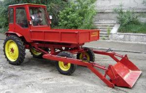 Трактор Т-16 c ковшом