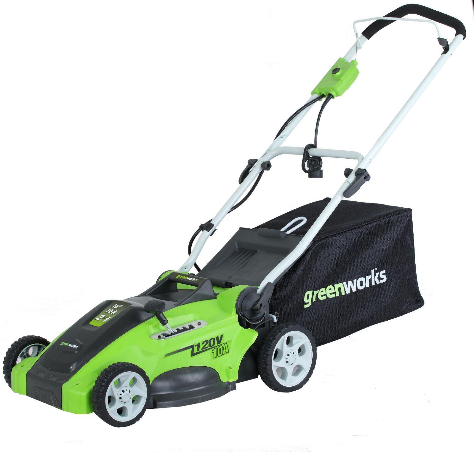 Газонокосилка GreenWorks 25147 1200W 40cm 3-in-1