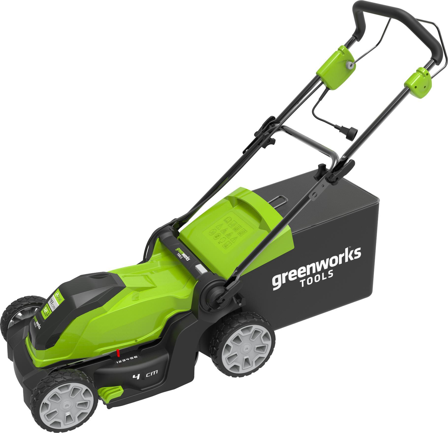 Газонокосилка Greenworks GLM 1232