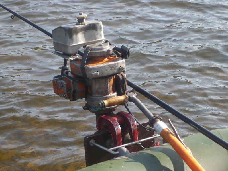 Лодочный мотор из бензопилы