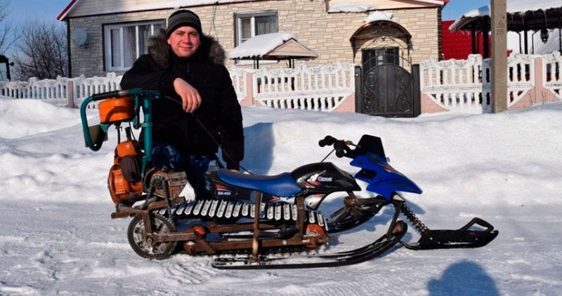 Снегоход из бензопилы. Полезные советы